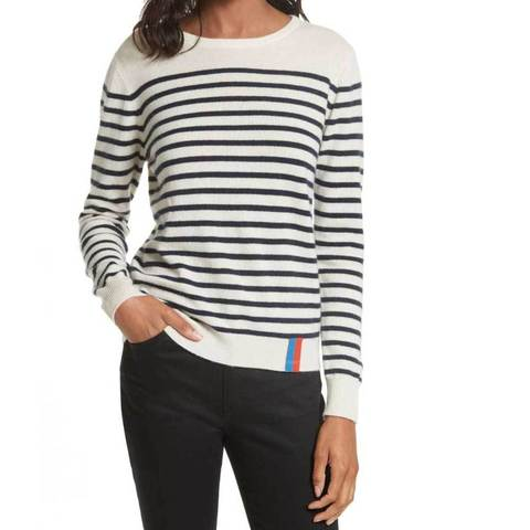 Kule - The Sophie Stripe Crew Sweater  - Cream