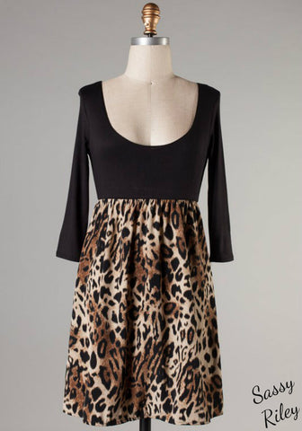 Spotted Vixen Dress -- Black -- Plus Size