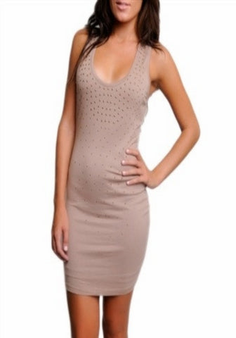 Alexia -- Brown Studded Dress