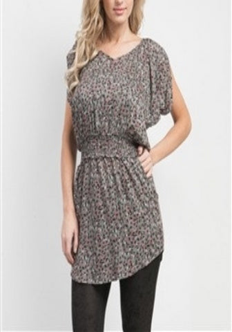 Cassie -- Gray Floral  -- Sassy Deal