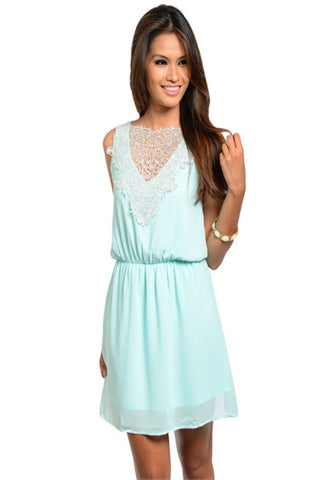 Dream Away Dress -- Light Blue