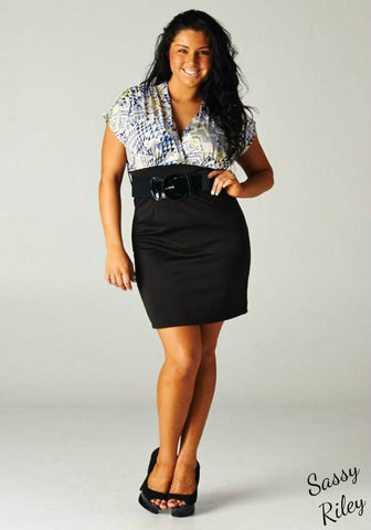 Office Chic Dress -- Multi