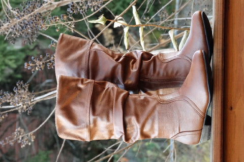 Slouchy Chestnut Boots