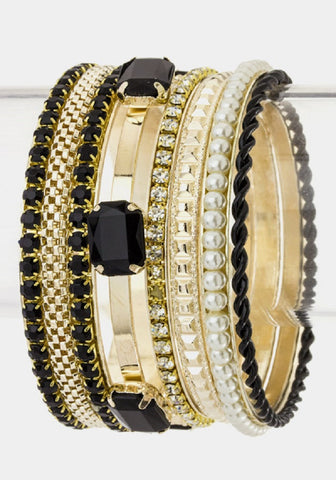 Arm Candy Bangles -- Black