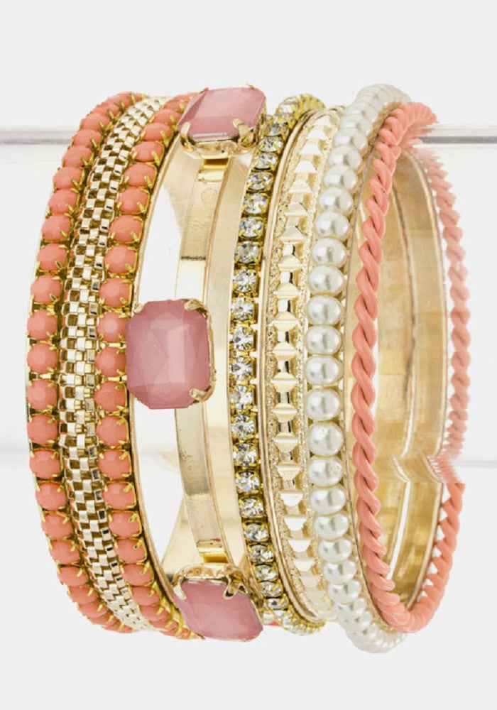Arm Candy Bangles -- Peach
