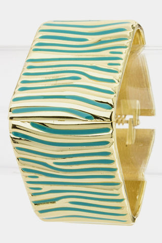 Mint Zebra Striped Bangle