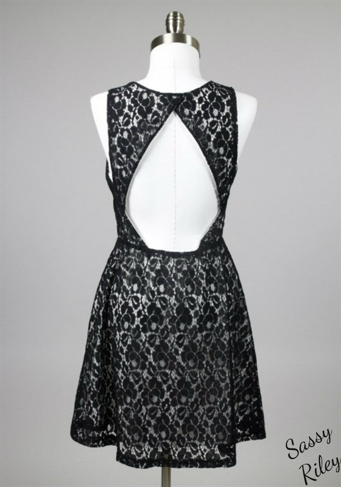 Lacey Love Dress -- Black