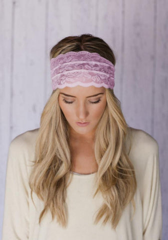 Light Pink Lace Headband