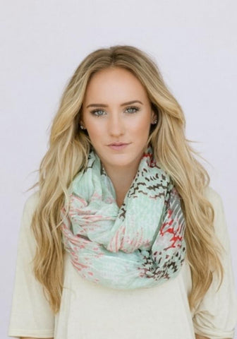 Pastel Infinity Scarf -- Mint