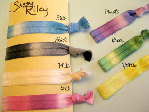 Yoga Tie Dyed Hair Ties -- Set of 4