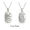The Love between A Mother & Daughter is.... Two Sided Necklaces