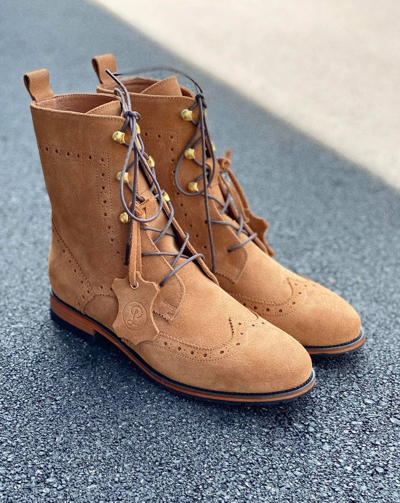 Oxford Boots - Caramel