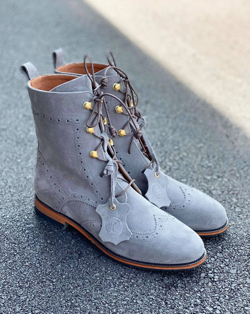 Oxford Boots - Grey