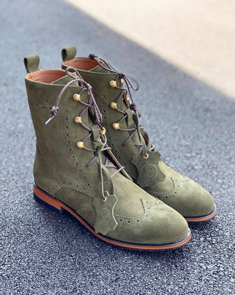 Oxford Boots - Olive Green