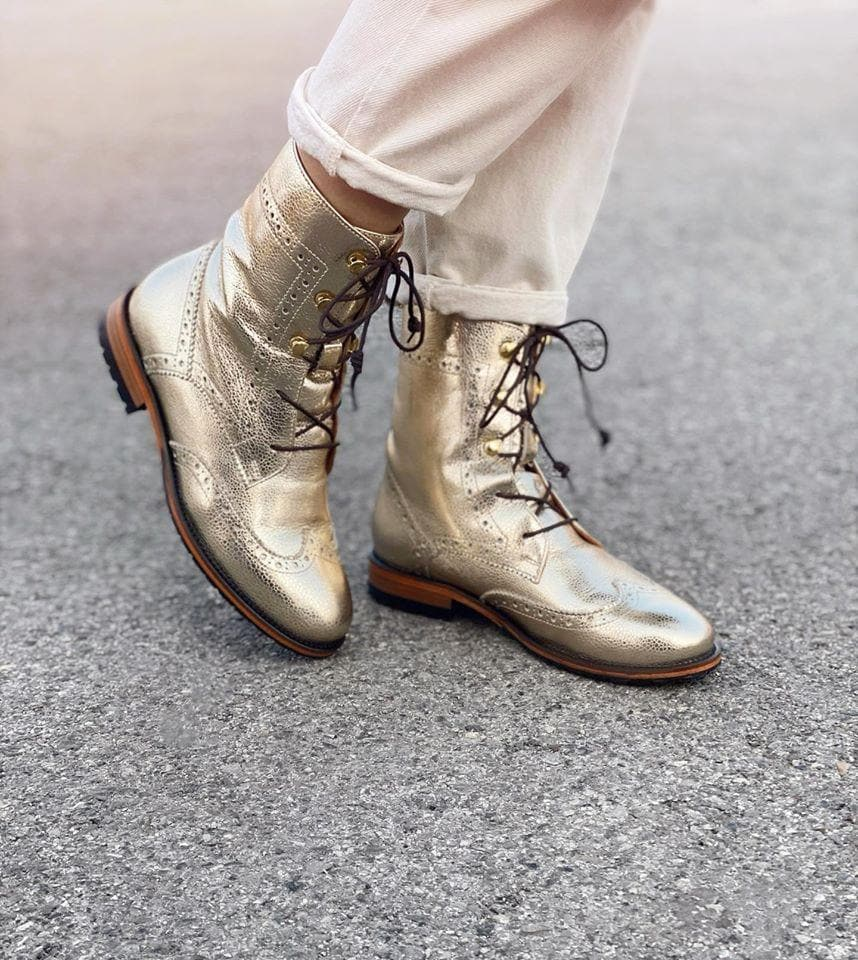 Oxford Boots - Gold