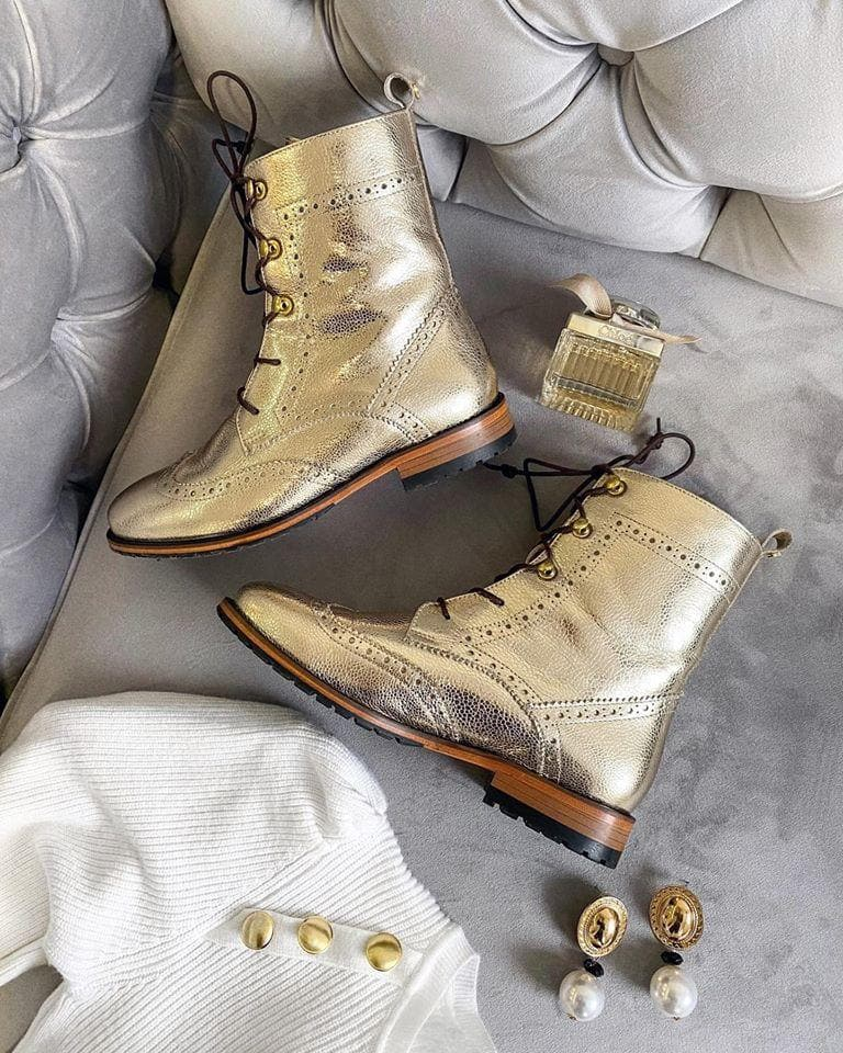 Lovidovi Oxford Boots - Gold