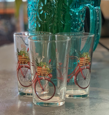 Bike Drinking Glass