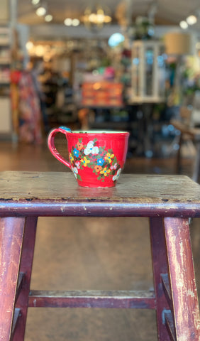Unique Handmade Large Red Cup