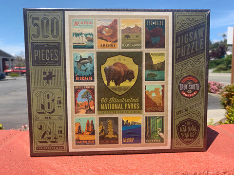 60 Illustrated National Parks Animal Collection Puzzles