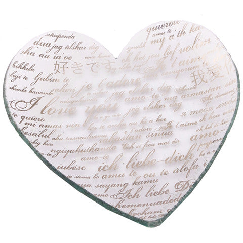 Sweet Nothings Heart Plate