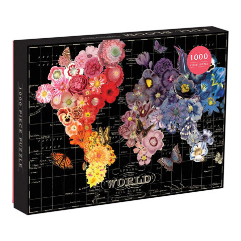 Full Bloom World Map 1000 pc Puzzle