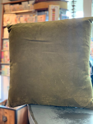 Cotton Velvet Square Cushion