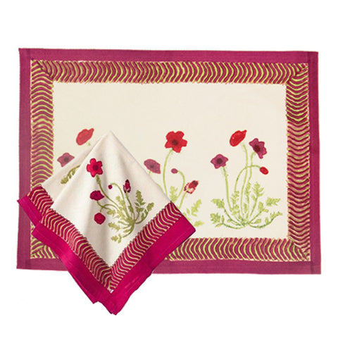 Poppies Napkins & Placemats