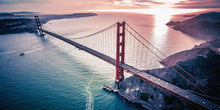 Load image into Gallery viewer, Poly Canvas Print - XXL - Golden Gate Bridge at Dusk Full Color