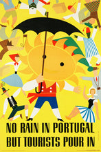 Load image into Gallery viewer, Poly Canvas Print - Vintage Travel Poster - No Rain in Portugal