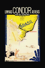 Load image into Gallery viewer, Poly Canvas Print - Float Frame - Vintage Travel Poster - Rio De Janeiro, Brasil - Syndicato Condor Linhas Aéreas