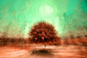 Poly Canvas Print - XXL - Abstract Topiary in a Surreal Landscape
