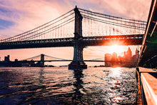 Load image into Gallery viewer, Poly Canvas Print - Photography: Manhattan and Brooklyn Bridges, New York
