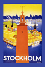 Load image into Gallery viewer, Poly Canvas Print - Float Frame - Vintage Travel Poster - Stockholm