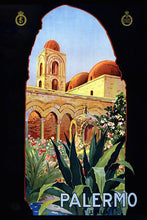 Load image into Gallery viewer, Poly Canvas Print - Vintage Travel Poster - Palermo