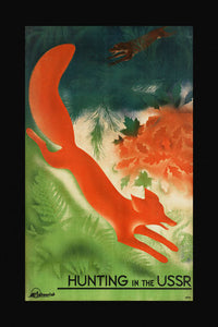 Poly Canvas Print - Float Frame - Vintage Travel Poster - Hunting in the USSR