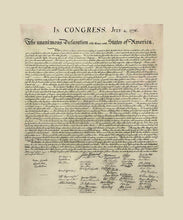 Load image into Gallery viewer, Poly Canvas Print - Float Frame - Declaration of Independence