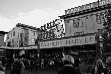 Poly Canvas Print - XXL - Pike Place Market, Seattle, Washington, USA