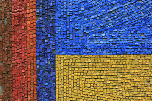 Poly Canvas Print - Abstract - Close up of a Russian Mosaic