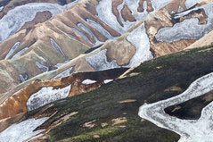 Poly Canvas Print - Abstract - Aerial View of the Landmannalaugar Mountains of Iceland