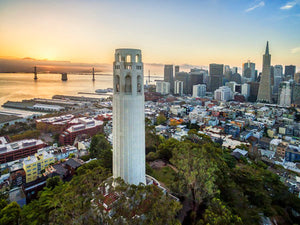 Poly Canvas Print - XXL - Photography - Coit Tower in San Francisco