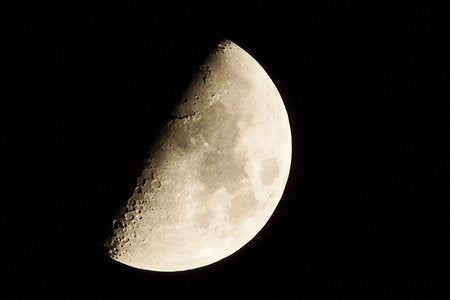 Poly Canvas Print - Photography - Our Universe: The Moon in the First Quarter