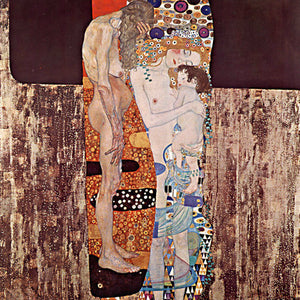 Poly Canvas Print - XXL - The Masters - Gustav Klimt - The Three Ages of Woman