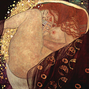 Poly Canvas Print - The Masters - Gustav Klimt - Danaë