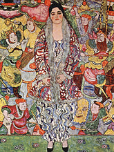 Load image into Gallery viewer, Poly Canvas Print - Float Frame - The Masters - Gustav Klimt - Portrait of Friederike Maria Beer