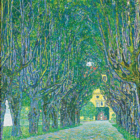 Poly Canvas Print - XXL - The Masters - Gustav Klimt - Avenue in Schloss Kammer Park