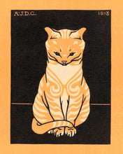Load image into Gallery viewer, Poly Canvas Print - Float Frame - The Masters - Julie de Graag - Sitting Cat