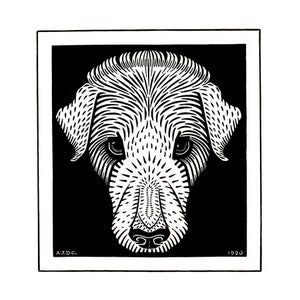 Poly Canvas Print - The Masters - Julie de Graag - Dog's head