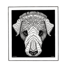 Load image into Gallery viewer, Poly Canvas Print - The Masters - Julie de Graag - Dog's head