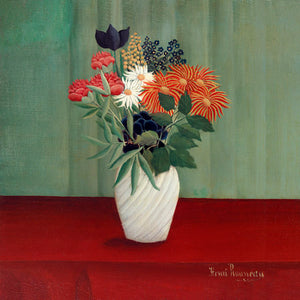 Poly Canvas Print - XXL - The Masters - Henri Rousseau - Bouquet of Flowers with China Asters and Tokyos