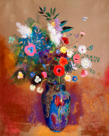 Poly Canvas Print - XXL - The Masters - Odilon Redon - Bouquet of Flowers